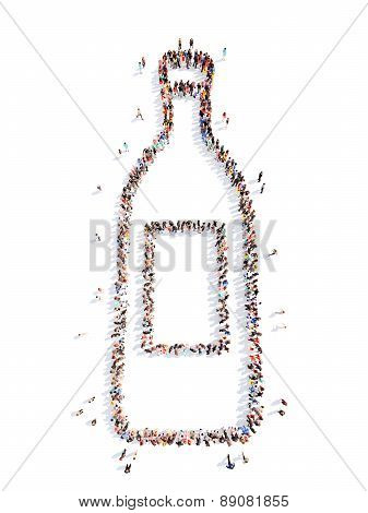 people in the form of a bottle.