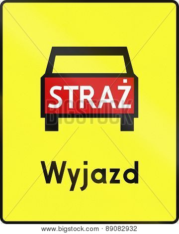 Emergency Vehicle Exit In Poland