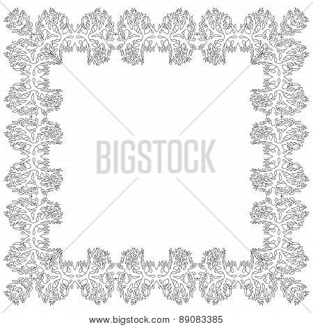Ornamental Frame For Photo Black White Elements