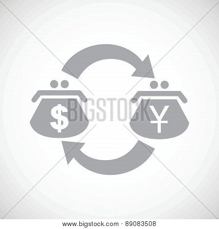 Dollar yen exchange black icon