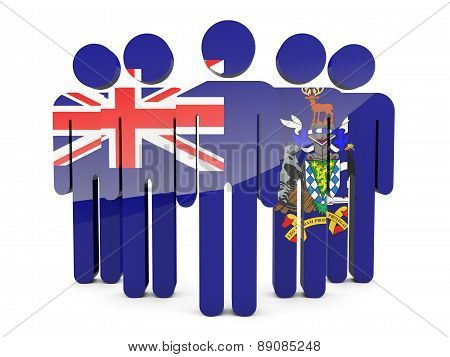 People With Flag Of South Sandwich Islands
