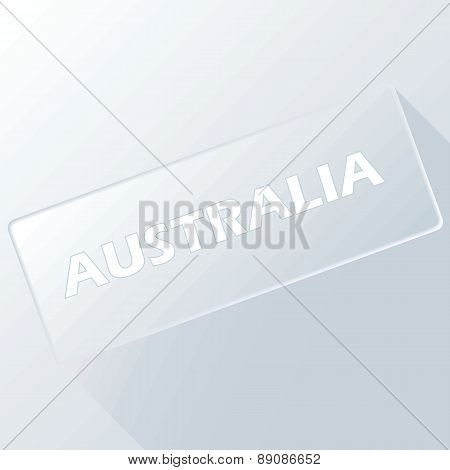 Australia unique button