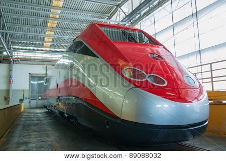New Fast Train Ready To Exit