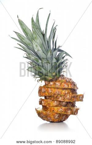 Pineapple studio shot - close up