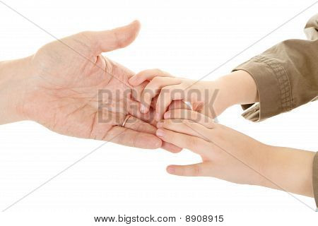 Adults And Children's Hands