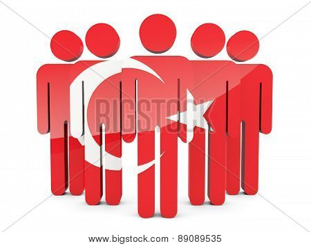 People With Flag Of Turkey