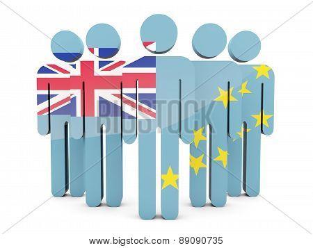 People With Flag Of Tuvalu