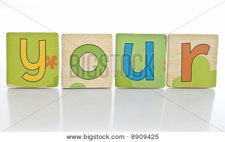 Wooden Tiles - Spelling Y O U R