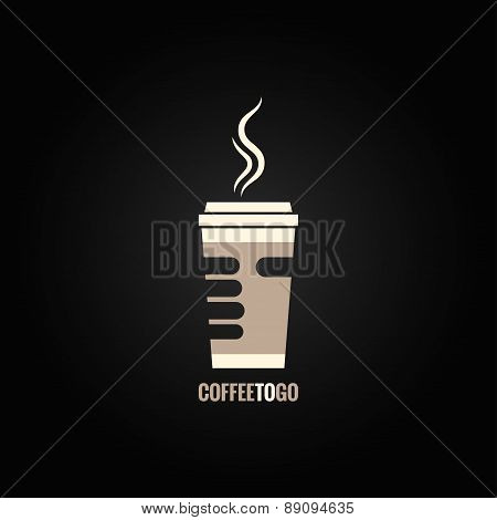coffee cup hand concept design background