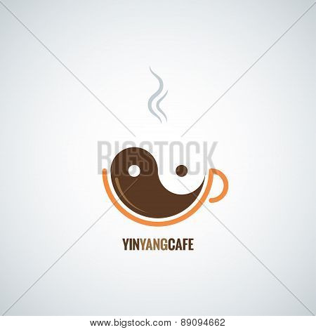 coffee cup yin yang background