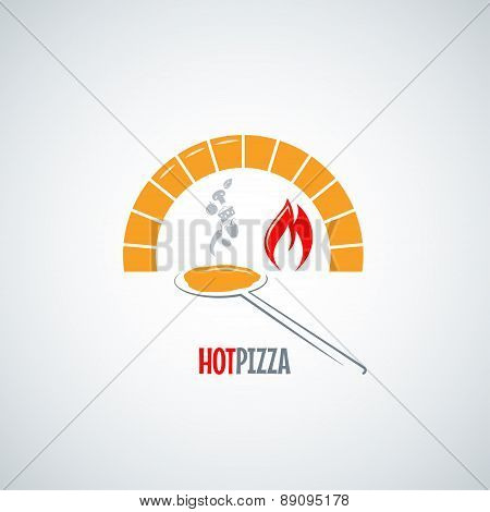 pizza oven hot background