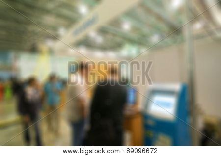 Generic trade show blur background