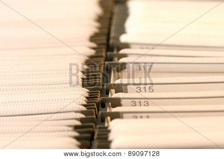 File folders - close-up