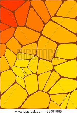 mosaic composition with ceramic geometric shapes