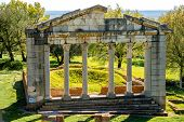 foto of albania  - Temple ruins in Ancient Apollonia in Albania - JPG