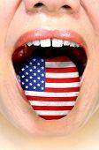 foto of independent woman  - Woman speaking american english - JPG