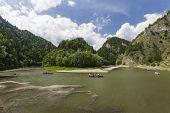 image of pieniny  - Dunajec River in Pieniny Mountains at the Polish - JPG