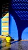 image of asilah  - Nice contrast of colors in a typical home in Asilah Morocco - JPG