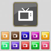 picture of tv sets  - Retro TV mode icon sign - JPG