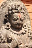 picture of hindu-god  - Ancient statue of hindu god - JPG
