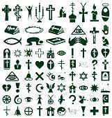 pic of taoism  - Image of icons on white background on the topic Religion - JPG
