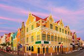 picture of curacao  - Downtown Willemstad at twilight Curacao Netherlands Antilles - JPG