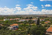 stock photo of larnaca  - Limassol panorama view from the top of the hill - JPG