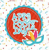 image of fool  - april fools day over  white background vector illustration - JPG