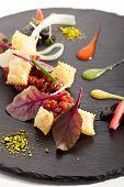 pic of tartar  - Tuna Tartare with Various Dip and Crispy - JPG