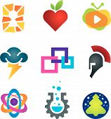 stock photo of sparta  - Collection of science innovation warrior symbol design - JPG