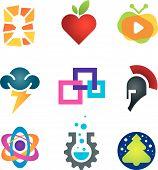 foto of sparta  - Collection of science innovation warrior symbol design - JPG