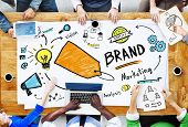 picture of diversity  - Diverse People Aerial View Meeting Marketing Brand Concept - JPG