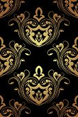 picture of gamma  - Seamless pattern in gold and black gamma - JPG