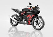 stock photo of motorcycle  - Motorcycle Motorbike Bike Riding Rider Contemporary Black Concept - JPG