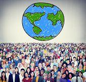 image of economy  - Global Networking Communication Economy Worldwide Concept - JPG