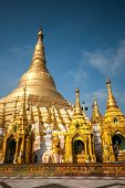 picture of yangon  - The Shwedagon Pagoda is one of the most famous pagoda in the world and the main attraction of Yangon Myanmar  - JPG