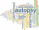 image of autopsy  - Background text pattern concept wordcloud illustration of autopsy examination - JPG