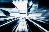 foto of escalator  - escalator of modern office building - JPG