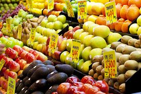 image of tangelo  - Fruits in a market in Adelaide, South Australia ** Note: Shallow depth of field - JPG