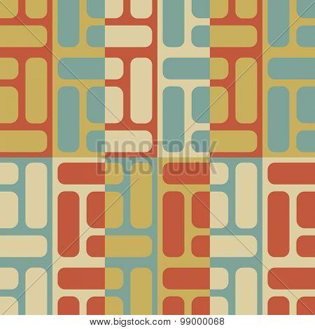 Seamless Grid Pattern. Vector Background. Regular Texture