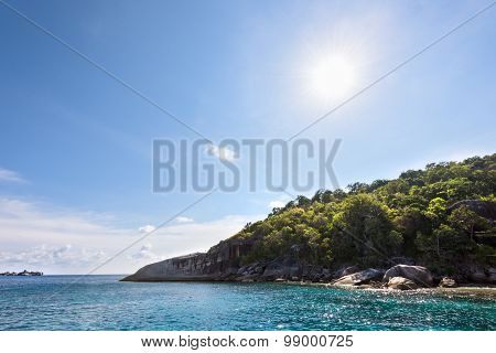 Summer Sun Over The Island And Sea
