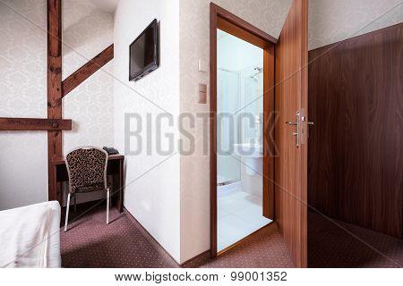 Hotel Room With Bathroom