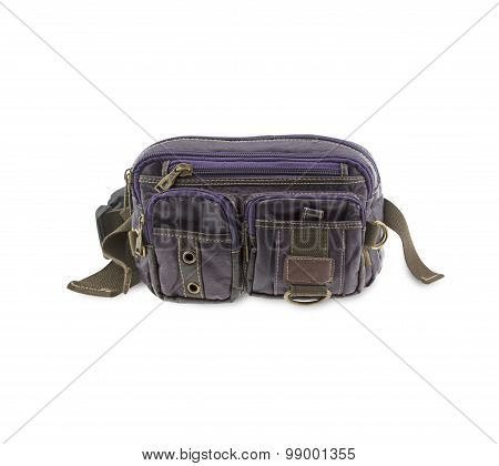 Pouch Isolated On White Background.