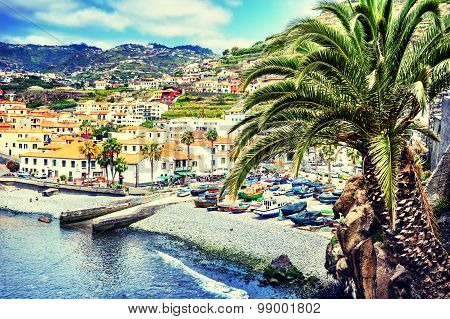 View Of Camara De Lobos, Small Fisherman Village, Madeira