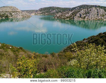 Croatian river landscape in Dalmatia