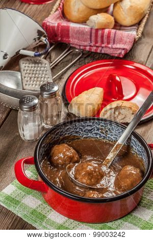 Meatballs In The Sauce.