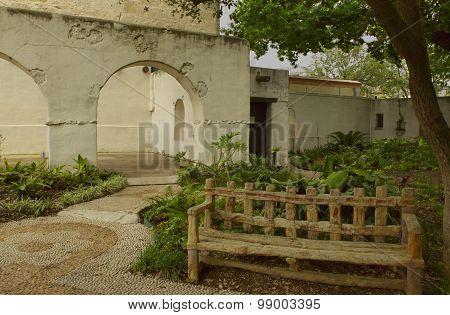 The Alamo Garden Area