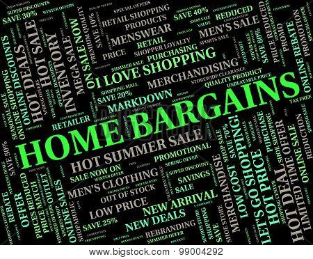Home Bargains Represents Residence Housing And Sale