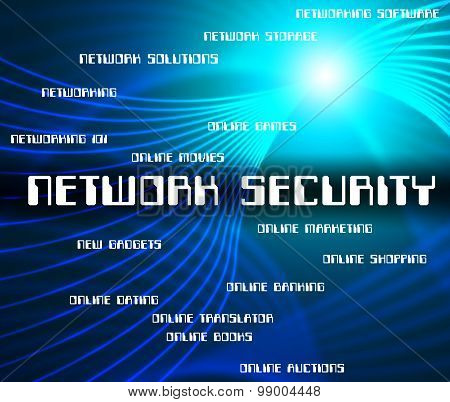 Network Security Represents Privacy Www And Connection
