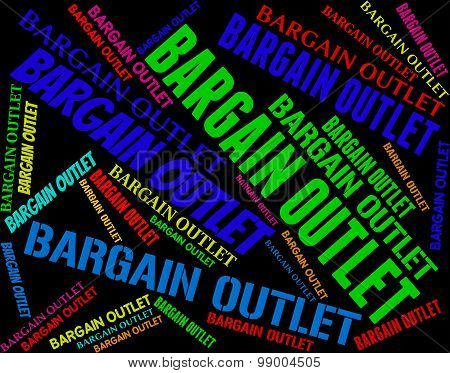 Bargain Outlet Represents Market Discount And Discounts